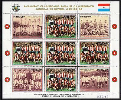 Paraguay MNH 1986 Football World Cup M/S