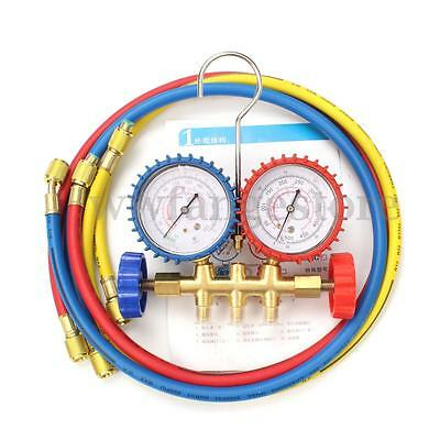Air Condition AC Refrigeration Charging Manifold Gauge For R134A R12 R22 R404z