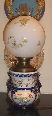 """Antique Victorian E. Miller Juno Gone with The Wind Oil Electric Table Lamp 24"""""""