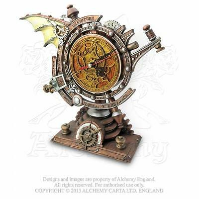NEW ALCHEMY GOTHIC VAULT THE STORMGRAVE CHRONOMETER. Steampunk Desk Clock.