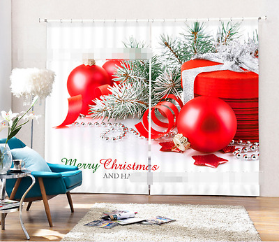 3D Gift Tree 68 Blockout Photo Curtain Printing Curtains Drapes Fabric Window CA