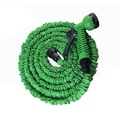 Flexible Extendable Hose Compact Garden Hose Pipe Free Spray Gun stretch to 25ft