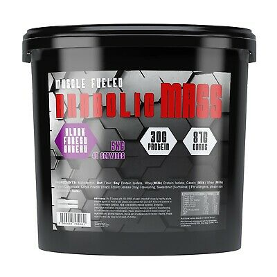 Muscle Fueled Anabolic Weight Gainer 5kg Bulk Mass Gain Protein Powder Shake