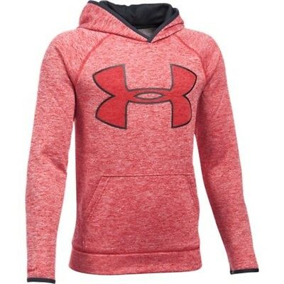 Under Armour 1281028-600 Boys Twist Hoodie - Red/Black-Small