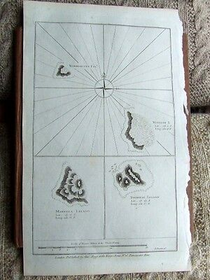 Chart Cook Islands, Wanooaette, Wateeoo, Mangeea. 1785. South Pacific.