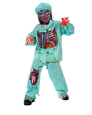 Childs Zombie Doctor Halloween Costume Small 4-6
