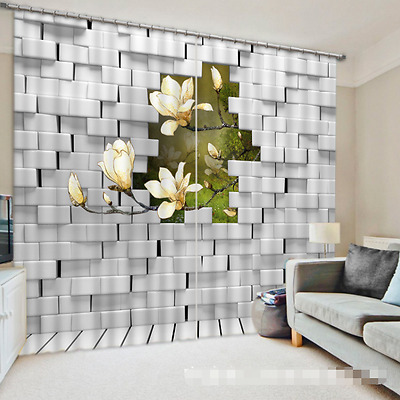 3D Magnolia 103 Blockout Photo Curtain Printing Curtains Drapes Fabric Window CA