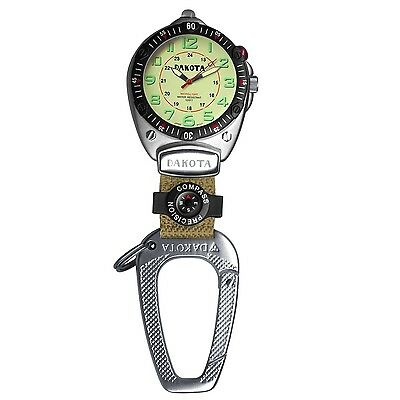 Dakota Easy-To-Read Flashlight Clip Watch - Tan Fob 88531