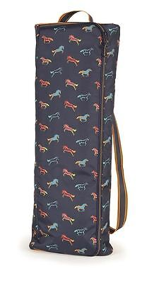 Shires Horse Print Double Bridle Bag Travel Storage Carry Bag  6505