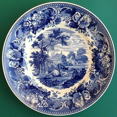 Wedgwood Blue & White Collection 'Pastoral' Plate Free P&P