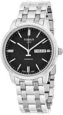 Tissot Men's Automatic III Black Dial Stainless Steel Swiss Watch T0654301105100