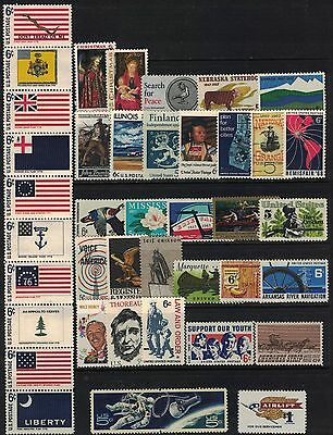 U.s. 1967 + 1968 -- 2 Years Of Commemorative Stamp Year Sets **mnh**