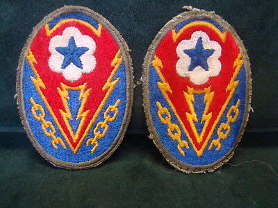 LOT OF 2 WW2 US Army ETO Advanced Sector MILITARY PATCHES