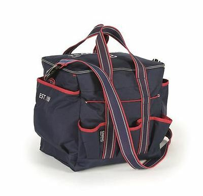 Shires Navy Team Grooming Kit Bag with Shoulder Strap Equestrian 9940