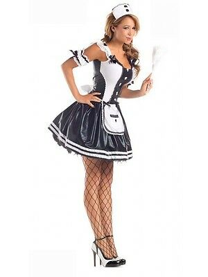 Sexy Ladies Black and white Pretty French Maid Fancy Dress Role play Costume