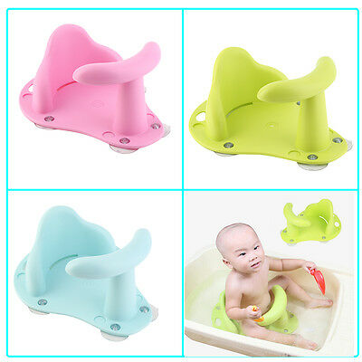 Baby Bath Tub Ring Seat Infant Child Toddler Kids Anti Slip Safety Chair RK