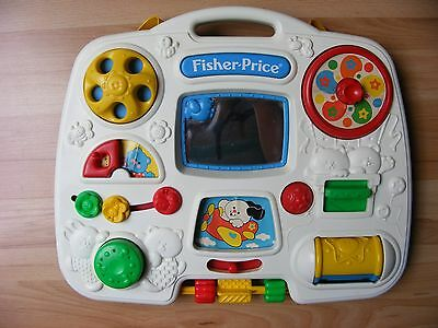 Vintage 1993 Fisher Price 1175 Busy Box Crib Activity Center Baby Toy Mirror