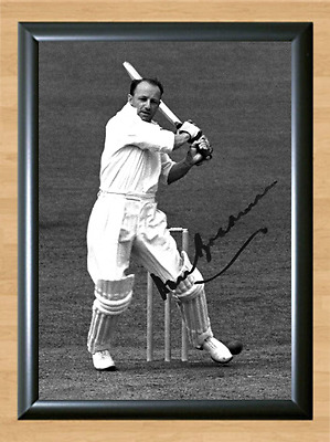 Don Bradman Cricket Signed Autographed A4 Poster Photo Print Memorabilia bat 3