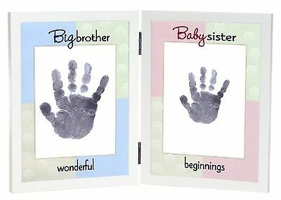 The Grandparent Gift Co. Sweet Somethings Handprint Frame, Big Brother/Baby S...