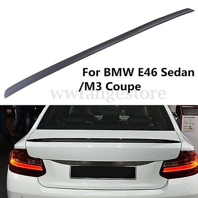 AU Painted Car Auto Rear Boot Trunk Lip Spoiler Tail For BMW E46 Sedan/M3 Coupe