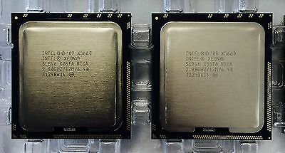 Intel Xeon X5660 Matched Pair 2.8 GHz 3.5GHz Turbo 6 Core 12MB Cache SLBV6 CPU