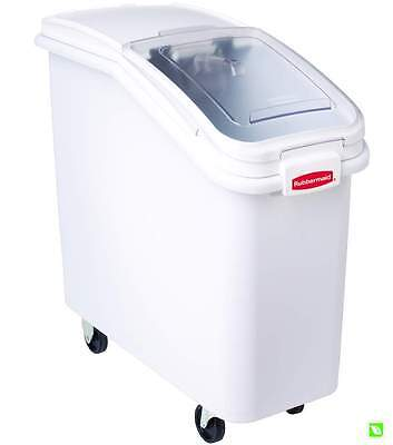 Rubbermaid ProSave Food Storage Ingredient Bin with Scoop and Casters - 79 Litre