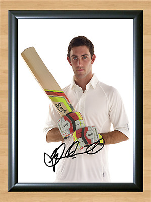 Glenn Maxwell Cricket Signed Autographed A4 Poster Photo Print Memorabilia bat 2