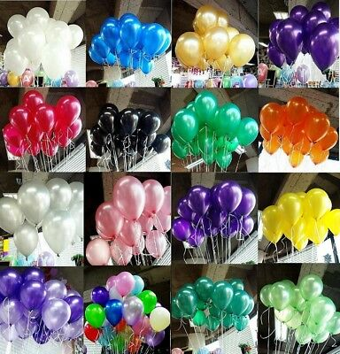 20/100PC Pearl Latex Helium Balloon Celebration Party Wedding Baby Birthday 10""