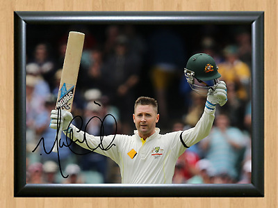 Michael Clarke Cricket Signed Autographed A4 Poster Photo Print Memorabilia 1