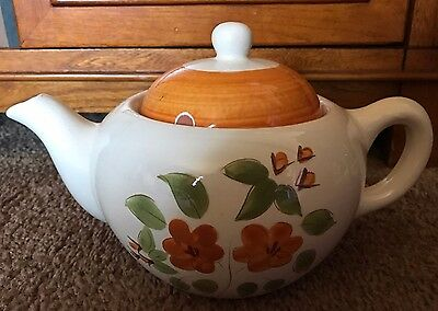 Vintage Stangl Pottery Bittersweet 5 cup teapot with Lid, Flowers