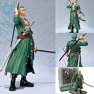 Anime POP One Piece Roronoa Zoro PVC Action Figure Figurine Toy Kids Gift In Box