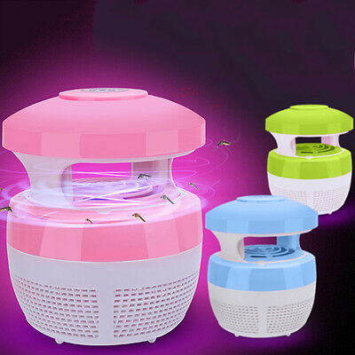 Photocatalyst LED Electric Mosquito Fly Insect Trap Zapper Killer Night Lamp YG