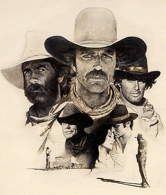 Tom Selleck - The Sacketts (1979) - Sketch -  8 1/2 X 11