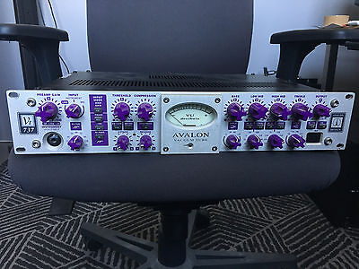 Avalon Classic VT-737 Tube Preamp - Mic EQ/Compressor - Vintage Purple Knobs