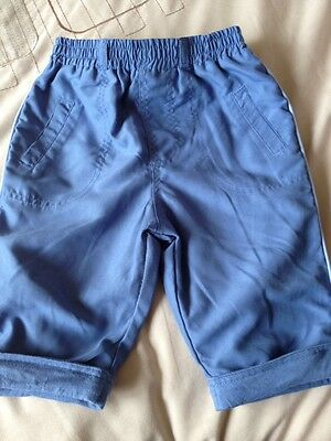 Baby Boys Trousers From George Age 3/6 Mths Blue Great Condition