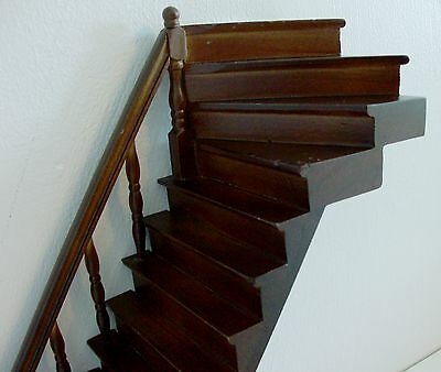 Dolls House Brown Wooden Staircase