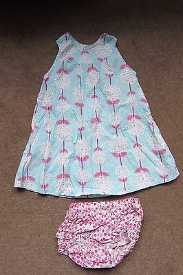 Gorgeous Baby Girls Flowery Floral dress & matching Pants age 12-18 months