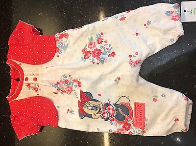 Baby Girl Minnie Mouse Romper First Size 0-3months BNWT