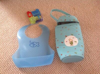 baby thermal bottle warmer bag-Disney, bib and soother attachment. Baby Bundle