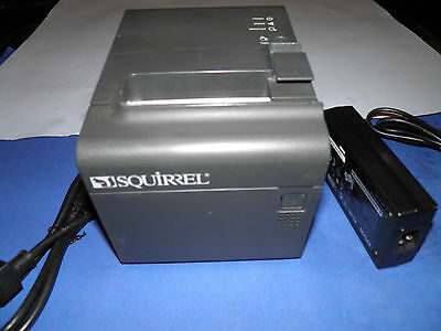 Squirrel EPSON TM-T90 M165A Thermal POS Label Receipt Printer with Power Supply