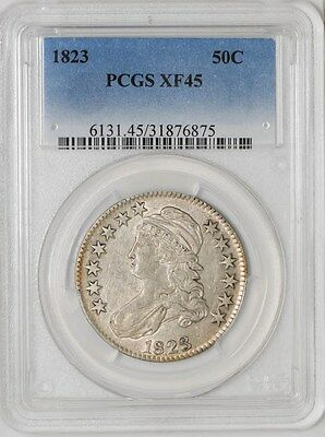 1823 Capped Bust Half 50c O-103 R.2 XF45 PCGS