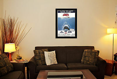 Jaws Movie Wall Art Poster Picture Image Various Sizes, Framed Or Unframed
