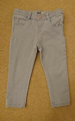 Zara girls soft blue jeans 12-18 months