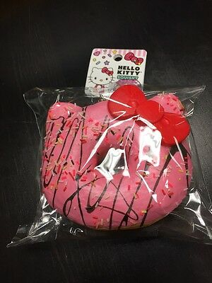 Sanrio Hello Kitty Squishy Big Strawberry Sprinkle Donut Ball Chain Nip