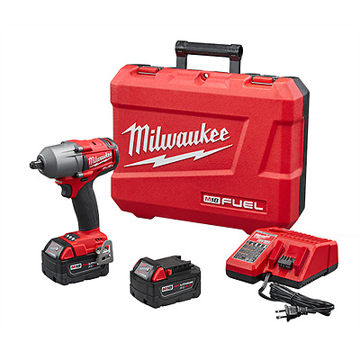 "Milwaukee M18 FUEL 1/2"" Mid-Torque Impact Wrench with Pin Detent Kit 2860-22"