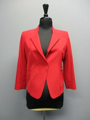 ISABELLA OLIVER Red Long Sleeves Solid Maternity Blazer Sample NWT Sz 2 CC5581