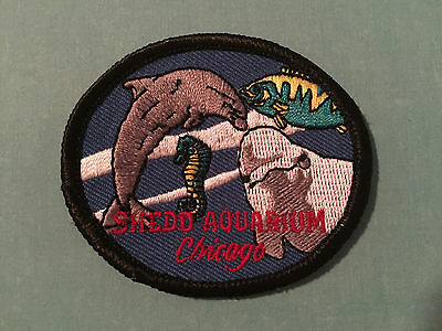 Shedd Aquarium Chicago Patch Souvenir Jacket Hat Backpack Crest