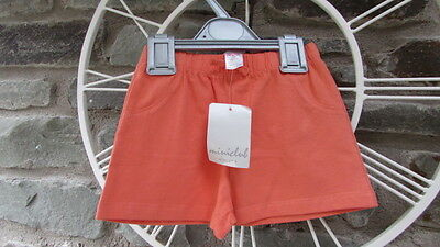 Girls Shorts, Age 12-18 months, Coral,  Cotton Jersey, Miniclub