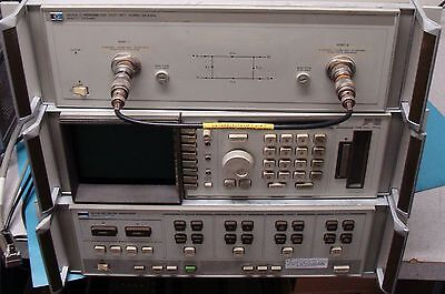 Hp Agilent 8510B Network Analyzer W/ Display/cables/test Set/man! Calibrated!