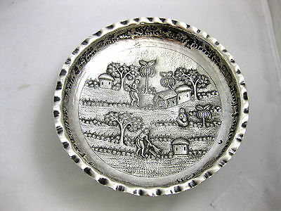 Antique Solid Silver--Bonbon Dish--Indian--Beautiful Decoration